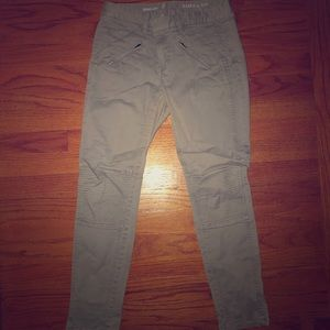Skinny moto pants